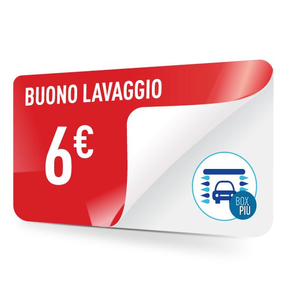 Buono lavaggio  6 euro