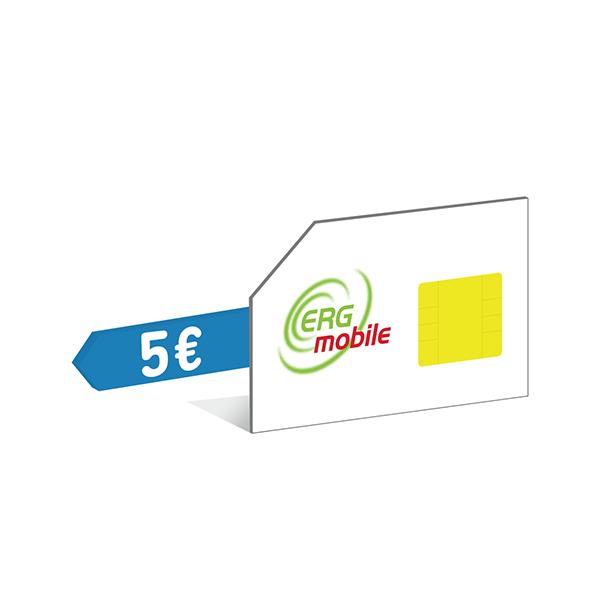 Sim con 5 Euro ERG Mobile