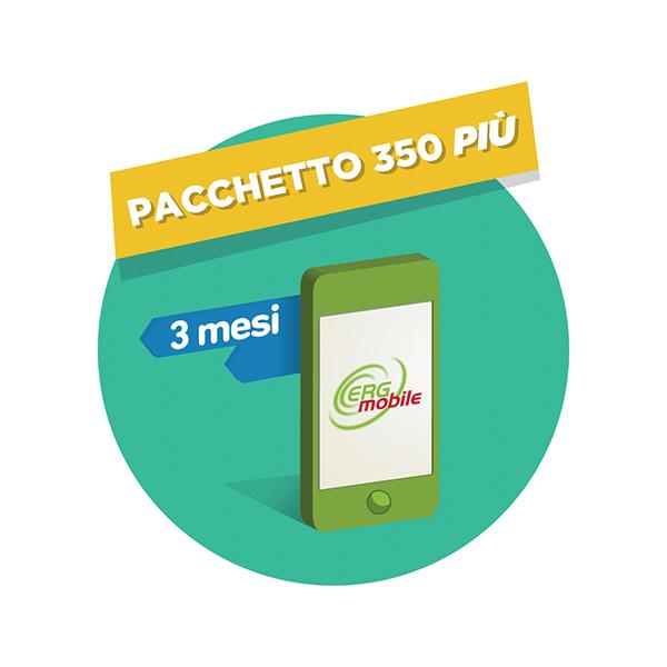 3 mesi pacchetto 350 Più ERG Mobile