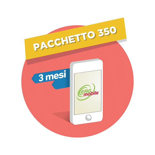 3 mesi di Pacchetto 350 ERG Mobile