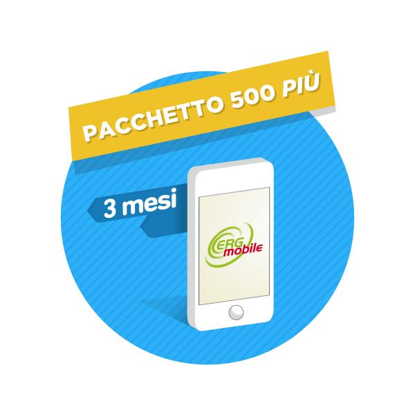 Pacchetto 500 Piu' 3 mesi