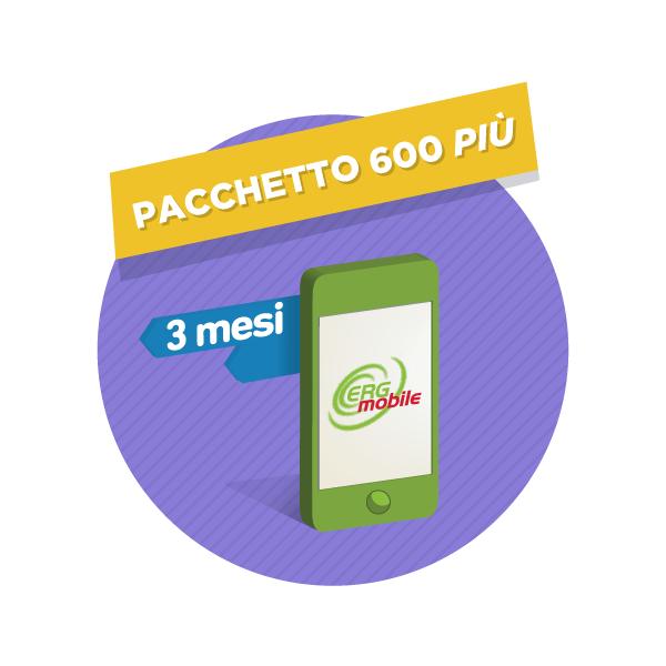 3 mesi Pacchetto 600 Più ERG Mobile