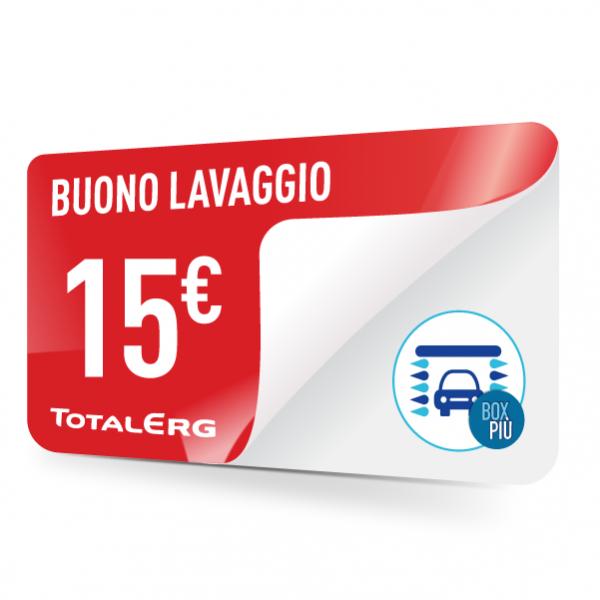 Buono lavaggio TotalErg 15 euro