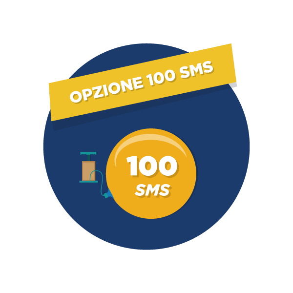 Opzione 1 mese 100 sms