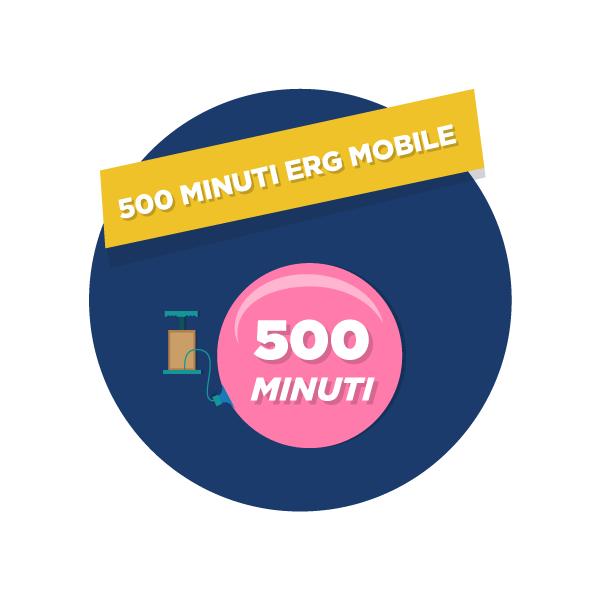 opzione 1 mese 500 minuti ERG Mobile