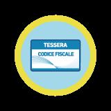 Tessera con codice fiscale
